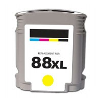 Hewlett Packard C9393AN #88XL Yellow Color Inkjet Cartridge Hi-Yield