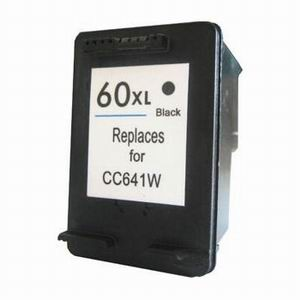 Hewlett Packard CC641WN #60XL Black Inkjet Cartridge Hi-Yield