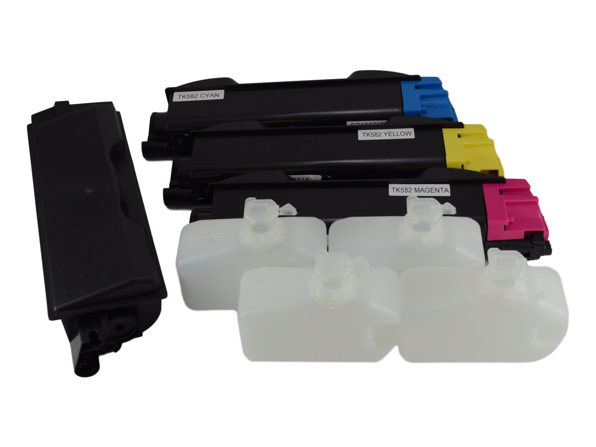 Kyocera TK-582K Color Toner Cartridge Set - KCMY 4 Pack