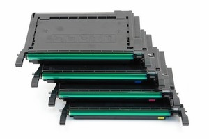 Samsung CLPK600A, CLPC600A, CLPM600A, CLPY600A Color Toner Cartridge Bundle