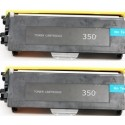 Brother TN350 Black Laser Toner Cartridge - 2 Pack