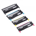 Dell 1230c 1235cn Compatible Toner Cartridges - Color Set 330-3012, 330-3013, 330-3014, 330-3015 (Black,Cyan,Magenta,Yellow)