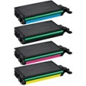 Samsung CLTK508L, CLTC508L, CLTM508L, CLTY508L Color Toner Cartridge Bundle
